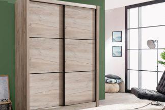 ארון הזזה בצבע עץ אפרפר דגם NAVA