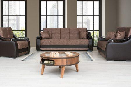 ספות לסלון 3+2+1 דגם BELLA בד חום