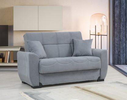 ספה דו-מושבית בד אפור דגם MONA-2