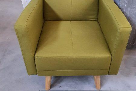 כורסא מעוצבת NIKA-1 בד ירוק