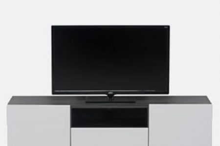 מזנון טלוויזיה לבן שחור דגם SHAI