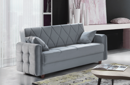 ספה דו מושבית בד אפור דגם DAFNA-2