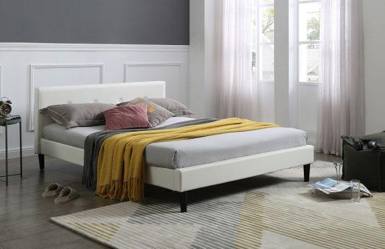 Кожаная кровать модель DONNA-WHITE