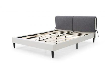 מיטה זוגית דמוי עור לבן דגם DONNA-WHITE
