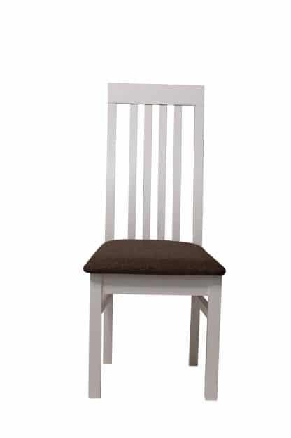 כיסא לבן לפינת אוכל דגם 434 עץ מלא