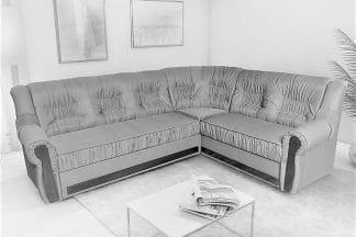 מערכת ישיבה פינתית נפתחת דגם MADRID בד בהיר