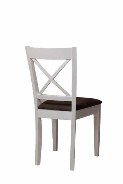 כסא אוכל לבן מעץ מלא דגם 737