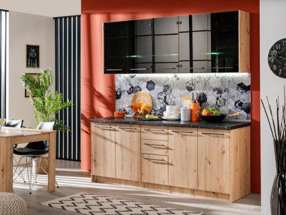 Кухня из черного стекла ADELA