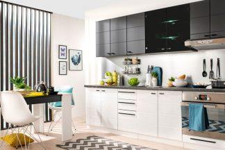 Черно-белая кухня CLAUDIA