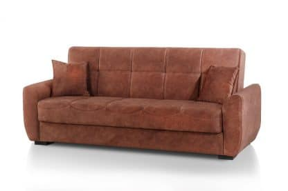 Терракотовый диван-кровать CAPRIZ