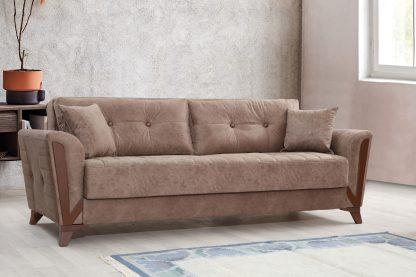 ספה לסלון בד חום ADAM