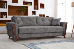 ספה יוקרתית לסלון בד אפור ADAM