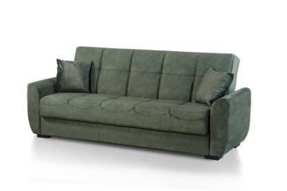 Зеленый раскладной диван CAPRIZ