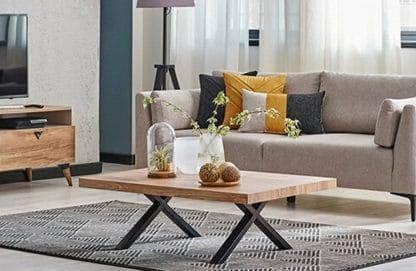 שולחן סלון מעץ אגוז דגם-229