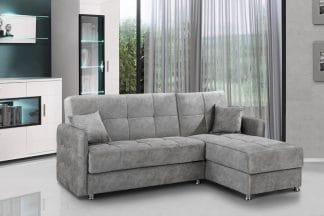 Небольшой угловой диван ELVIS-GRAY