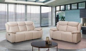 Мягкая мебель с реклайнерами APOLLO-CREAM