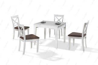 Кухонный раскладной стол и 4 стула модель ALASKA-37