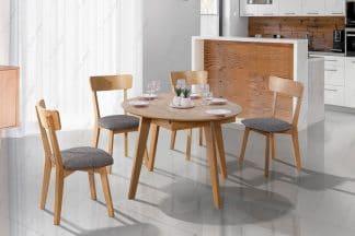 פינת אוכל עגולה עם 4 כסאות דגם MORIS-12