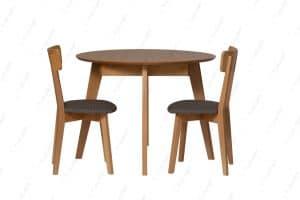 שולחן מטבח עגול עם 2 כסאות דגם MORIS-12