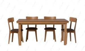 פינת אוכל נפתח עם 4 כסאות מעץ דגם ORION-12