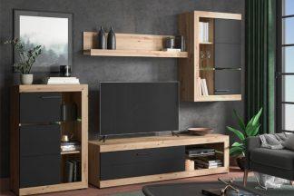 Стенка под телевизор модель ROSS-BLACK