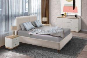 מיטה זוגית עם אחסון NORA