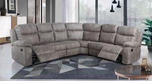 Мягкий угловой диван с реклайнерами MELANIE-2