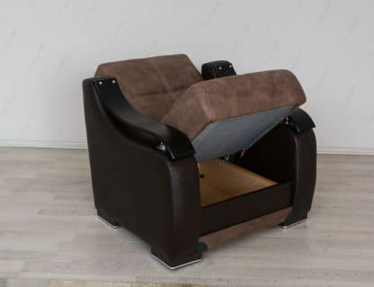 כורסא מעוצבת דגם BELLA-BROWN